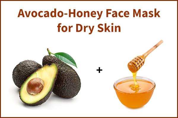 avocado-honey face mask for dry skin