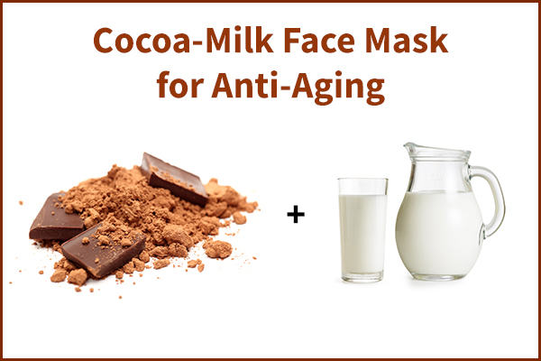 cocoa-milk face mask for aging skin
