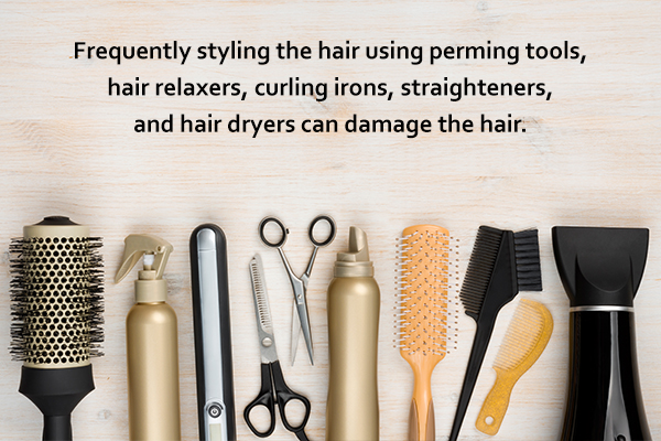 hair styling tools can damage and dry the hair
