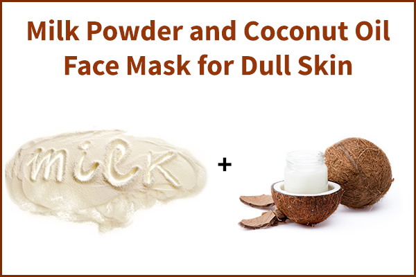 milk powder and coconut oil face mask for skin