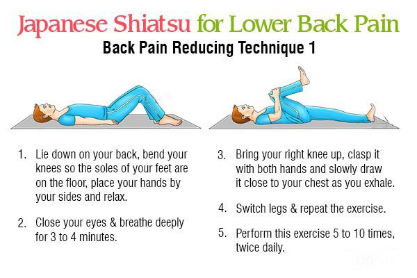 shiatsu massage technique 1 for reducing back pain