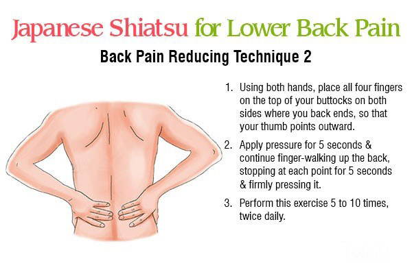 shiatsu massage technique 2 for reducing back pain