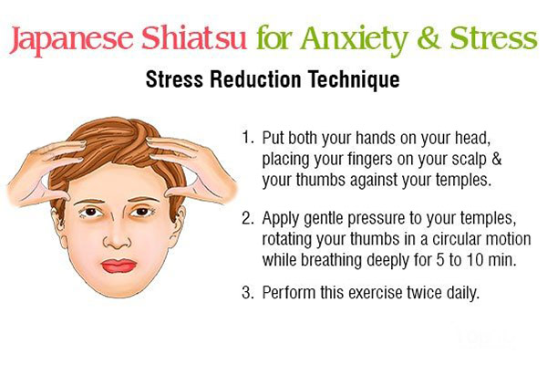 japanese shiatsu technique for stress reduction