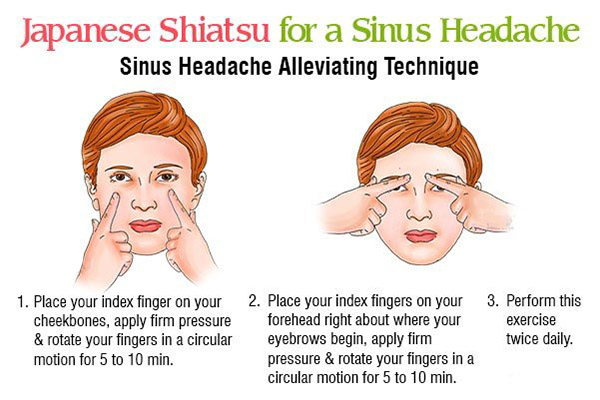 japanese shiatsu for relieving sinus pain