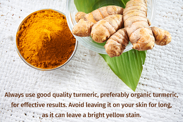 important points to remember before using turmeric in skincare