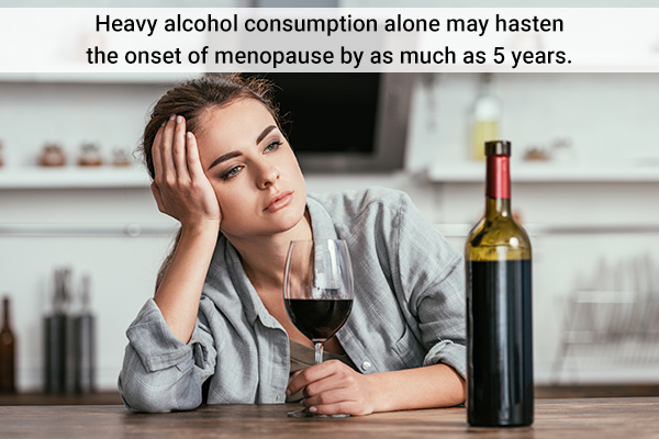 excessive alcohol consumption can lead to premature menopause