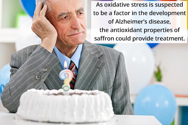 saffron can help treat Alzheimer's disease