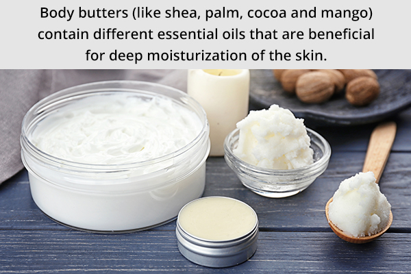 try different body butters for moisturizing your skin