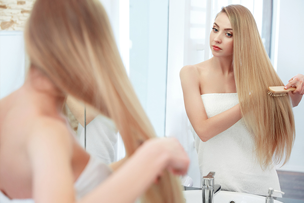 comb your hair gently