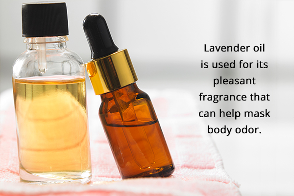 essential oils can help mask the body odor
