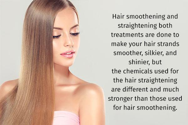 hair smoothening vs hair straightening