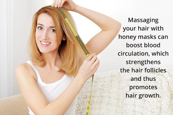 honey can help boost hair growth