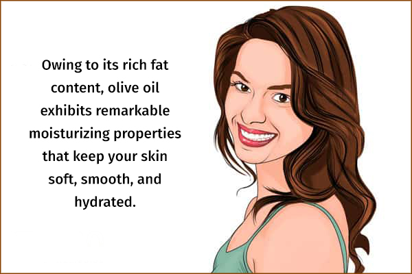 olive oil can help in skin moisturization