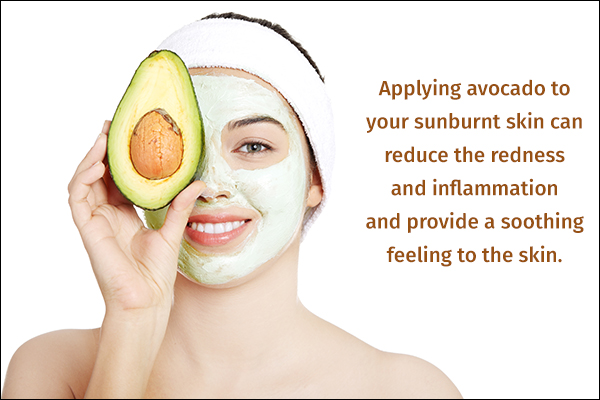 avocado can help soothe sunburnt skin