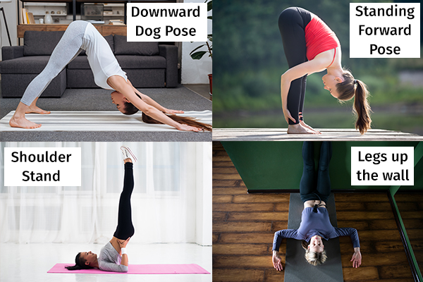 certain yoga poses can help boost blood flow in the head