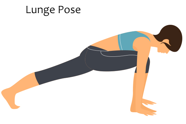 lunge pose for menopausal relief