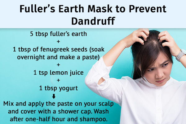 fuller's earth mask can be used to ward off dandruff