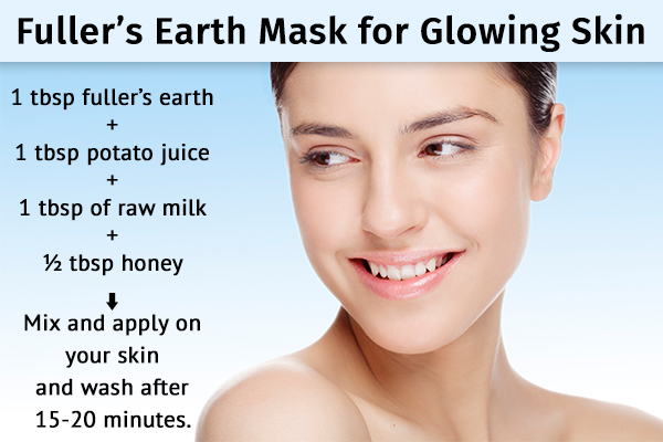 fuller's earth can help impart a glow to your face and skin