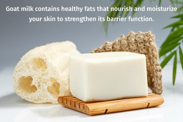 goat milk can help moisturize your skin