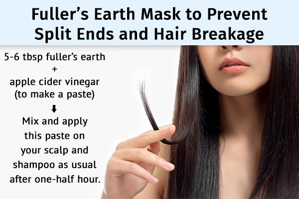fuller's earth can help prevent split ends and hair breakage