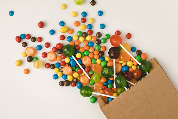 excess hard candies and lollipops can be detrimental to children
