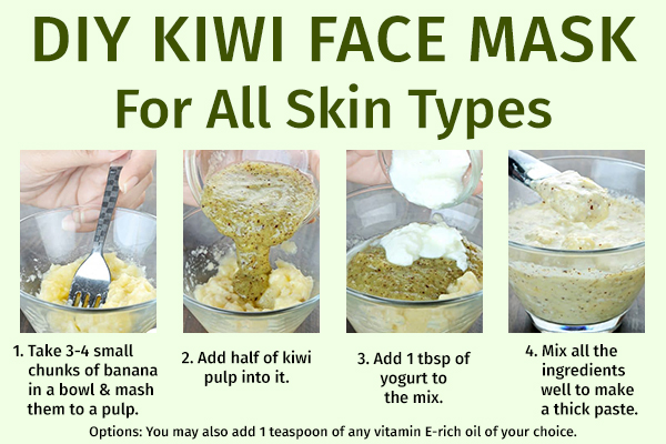 diy kiwi face mask for all skin types